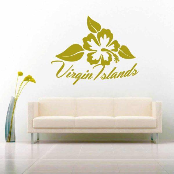 Virgin Islands Hibiscus Flower_1 Vinyl Wall Decal Sticker