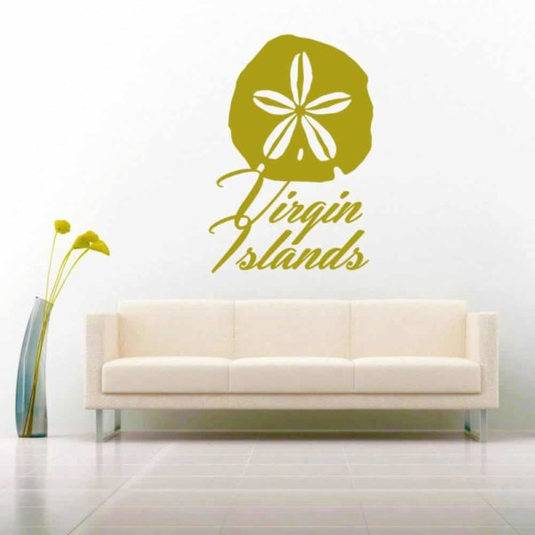 Virgin Islands Sand Dollar Vinyl Wall Decal Sticker