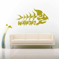 Waikiki Hawaii Fish Skeleton Tribal Vinyl Wall Decal Sticker