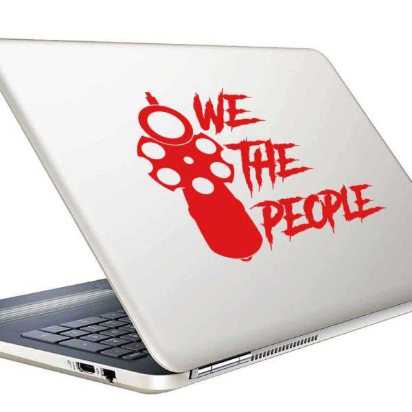 We The People Gun Pistol Vinyl Laptop Macbook Decal Sticker