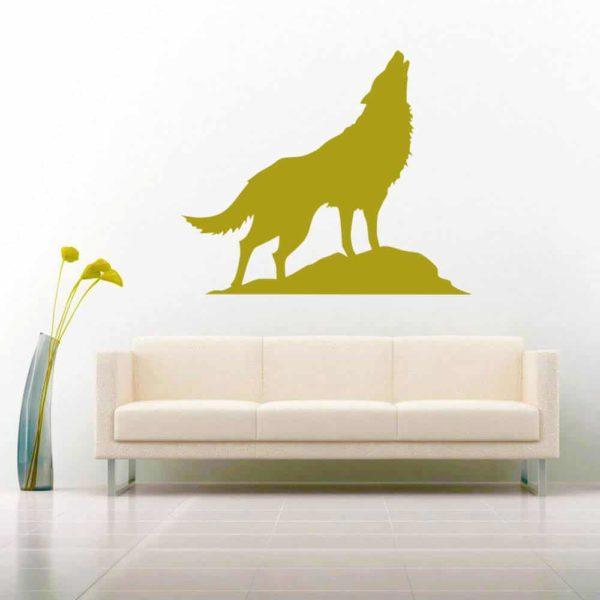 Wolf Howling Vinyl Wall Decal Sticker