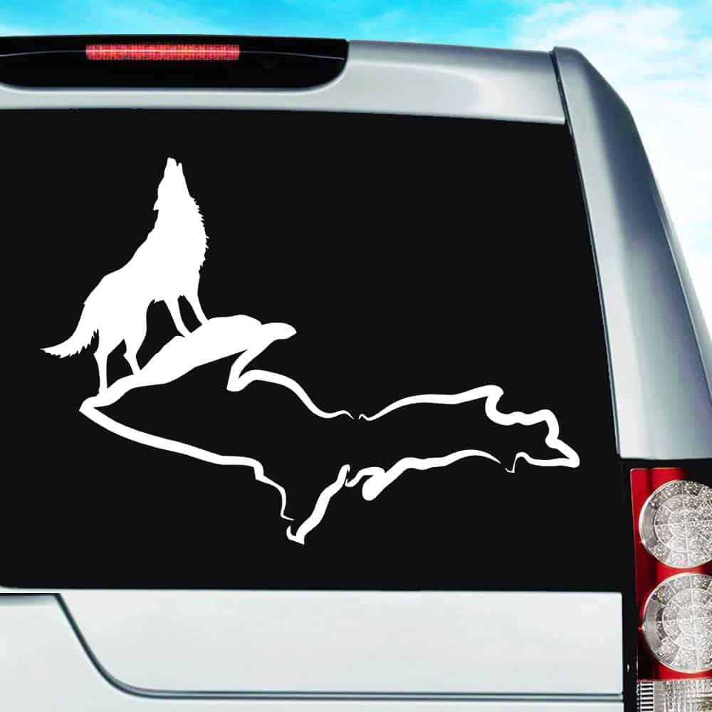 Wolf Michigan Upper Peninsula Decal Sticker