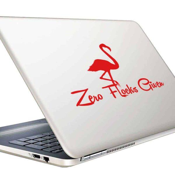 Zero Flocks Given Flamingo Vinyl Laptop Macbook Decal Sticker