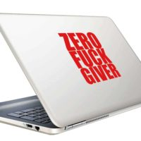Zero Fuck Giver Vinyl Laptop Macbook Decal Sticker